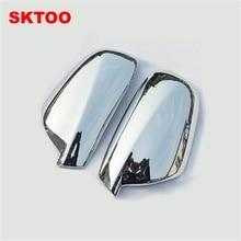 SKTOO для 2004-2012 peugeot 307 CC SW 407 дверь боковое крыло зеркало хромированная крышка заднего вида крышка аксессуары 2 шт. в комплекте автомобиля Stying