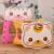 Imagem dos desenhos animados fezes portátil dobrável projeto gatinho das crianças banquinho de plástico Pode suportar 50 kg de peso