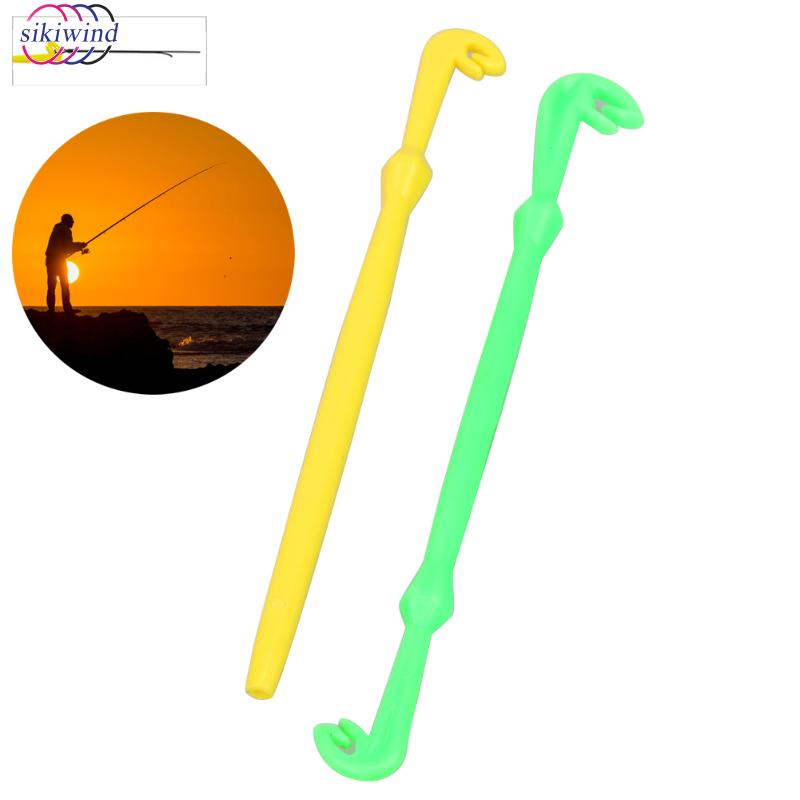 2 Pcs Easy Hook Loop Tyer Disgorger Fly Tying Kit Tool Fishing Tool Tie Fast Knot For Fly Line Tier Kit Fishing Detacher Device