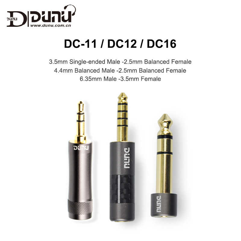 Dunu DC-12 DC-16 DC-11 3.5mm Male to 2.5mm Female 6.35-3.5 / 4.4-2.5 Plug Adapter for Music Player Balanced earphone AMP DAC