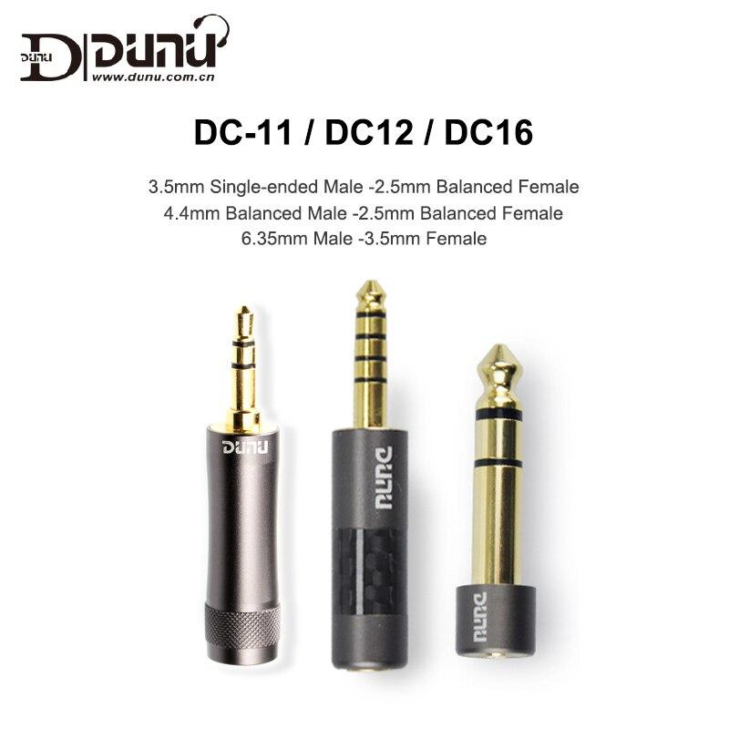 Штепсельная Вилка Dunu, адаптер с штекером 3,5 мм на 2,5 мм Гнездо 6,35-3,5/4,4-2,5 для музыкального плеера, сбалансированные наушники, AMP, DAC