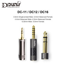 Dunu DC-12 DC-16 DC-11 3.5mm Male to 2.5mm Female 6.35-3.5 / 4.4-2.5 Plug Adapter for Music Player Balanced earphone AMP DAC(China)