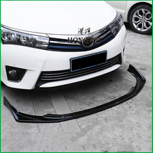 For Toyota Corolla European Version 2014 2015 Front Bumper Lip Lower Grille Diffuser Protector Plate Spoiler Body Kit Cover Trim msdtoys s6 lower body cover black
