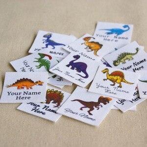 Image 2 - Étiquettes avec logo personnalisées avec nom pour enfants, 96 pièces