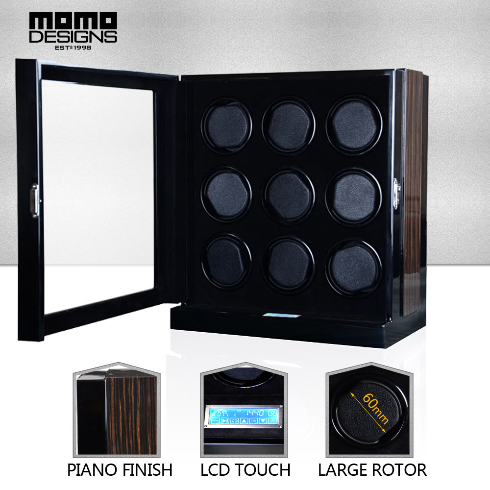 Excellent Automatic Watch Winder Box with JAPAN MABUCHI motor machine storage box LCD Screen touch control high end quality ultra luxury 2 3 5 modes german motor watch winder white color wooden black pu leater inside automatic watch winder