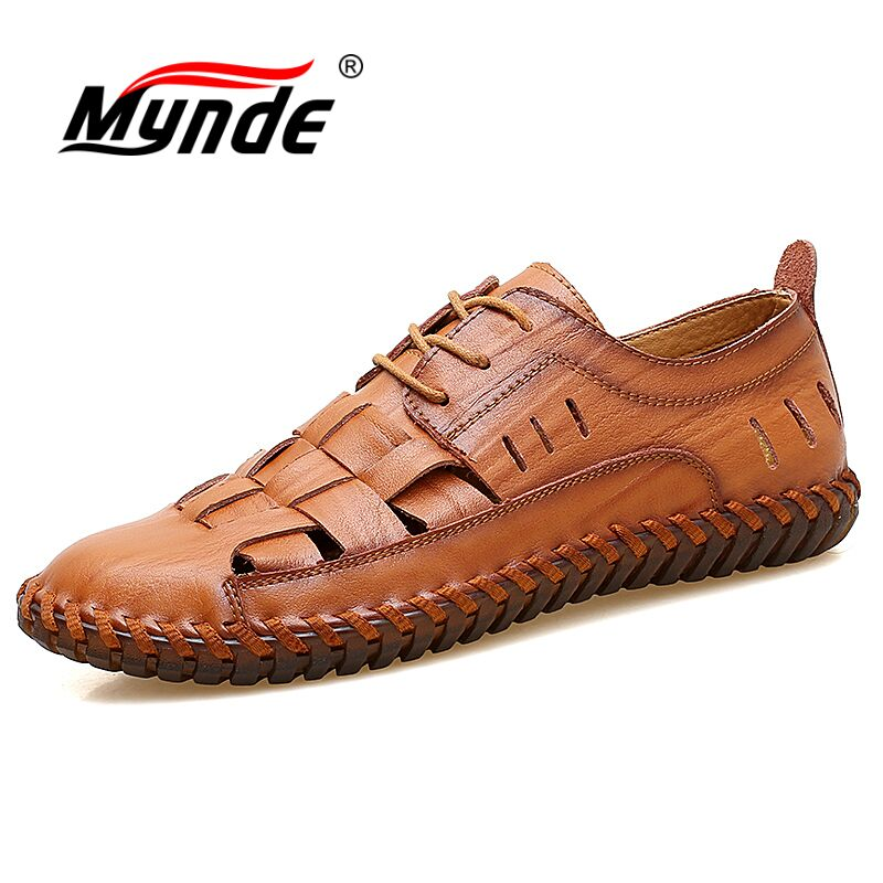 MYNDE New Spring Summer Zip Mens Loafers Fashion Breathable Men Flats Genuine Leather Casual Shoes Designers Moccasins Men Shoes pamasen new spring autumn lace up mens loafers fashion breathable men casual genuine leather shoes designers moccasins men shoes