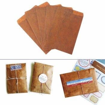 5 pcs/lot Creative Style Vintage Kraft Paper Envelope For Postcard Novelty Item Kids Gift Stationery Paper Envelopes