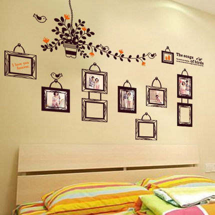 Photo Tree Wall Sticker Vintage Flower Stickers Wallstickers for Kids - Home Decor - Photo 2