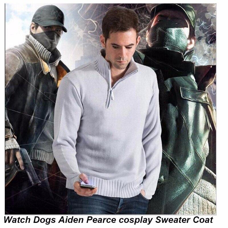 Watch Dogs Aiden Pearce пуловер для косплея, хлопковая толстовка с капюшоном, пальто с длинным рукавом, мужские толстовки на Хэллоуин, Рождество, повседневный теплый свитер
