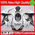 7gifts For SUZUKI GSXR600 Black white 11 12 13 14 GSX-R750 8MC56 GSXR 600 750 K11 11-14 2011 2012 2013 2014 Black white Fairing