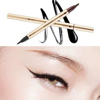 Waterproof Double Sided Eye Brow Eyeliner Liquid Eyebrow Pen Pencil Makeup Cosmetic Beauty Tools