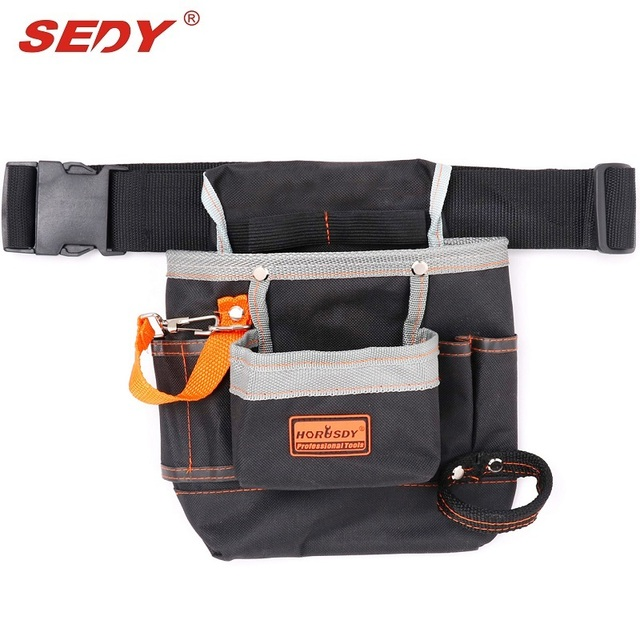 Multifunctional Tool Holder Bags Polyester 250x240mm 8 Pockets Woodworking Waist Belt Tools Bag Electricians Pouch