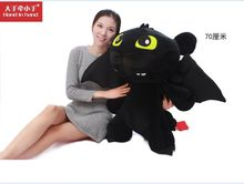 How to Train Your Dragon 2 huge lovely plush black dragon Toothless doll gift about 70cm
