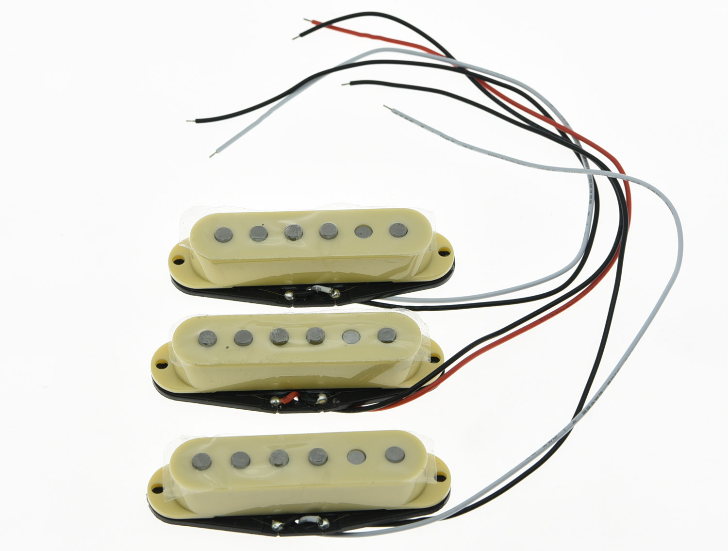 KAISH 3x Cream Alnico 5 Single Coil Pickups ST Strat SSS Pickup Set tsai hotsale vintage voice single coil pickup for stratocaster ceramic bobbin alnico single coil guitar pickup staggered pole