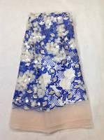 Iyi görünümlü güzel işlemeli payet kumaş yüksek kalite afrika payet dantel kumaş akşam veya balo elbise için K-L10651