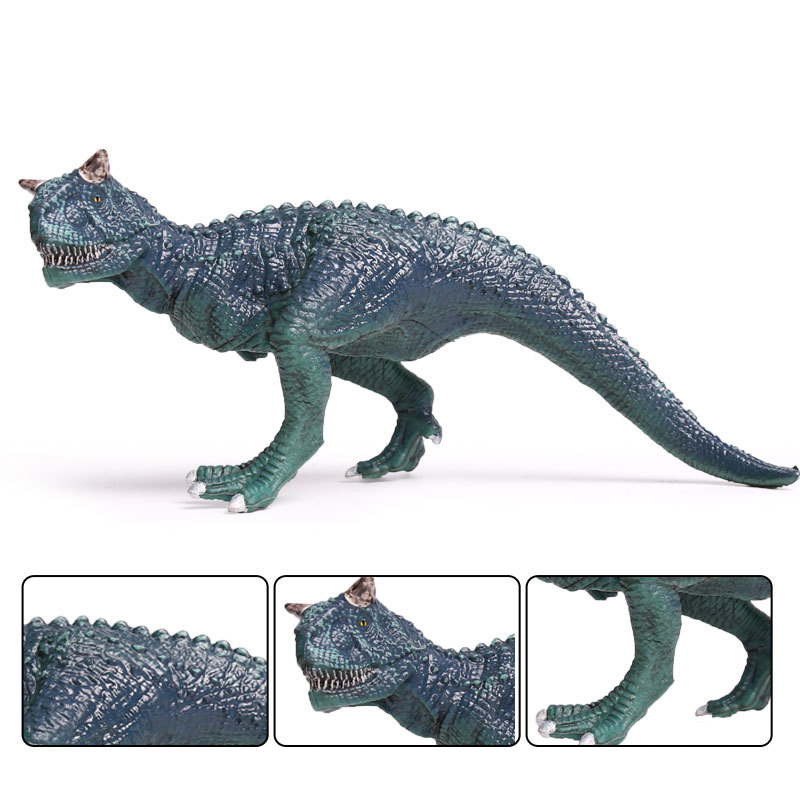 Action&Toy Figures Jurassic Blue Carnotaurus Dragon Dinosaur PVC Toys Collection Model Plastic Doll Animal For Kids Gift soccer balls size 4