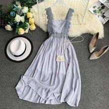 NiceMix New 2019 Women Lace Strap Strapless High Waist Slim Retro Casual Dress Sexy Sleeveless Elegant Vestidos De Fiesta