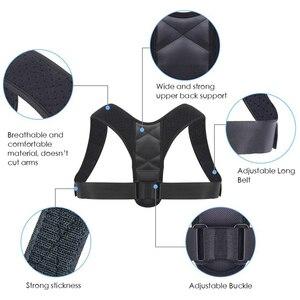 Image 4 - החדש יציבת מתקן ותמיכה חזרה Brace עצם הבריח בחזרה סד מתקן לנשים וגברים