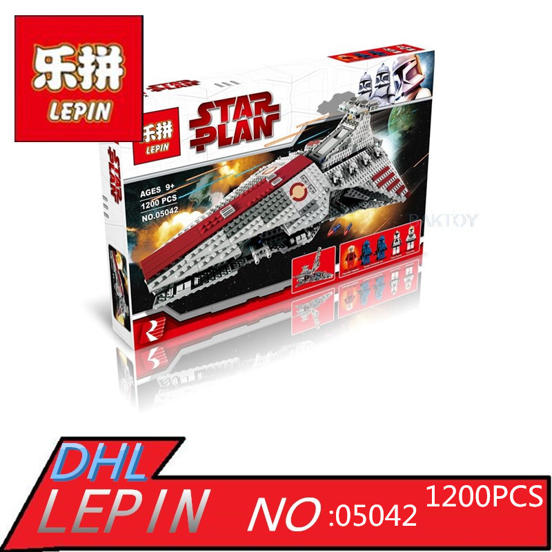 Фотография Star Series Wars Venator-Class Republic Attack Cruiser LEPIN 05042 1200Pcs Building Kits Blocks Bricks Toys for Children Gift