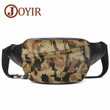 JOYIR Men Bag Genuine leather Chest Vintage Camouflage Single Shoulder Messenger Crossbody Travel Pack for