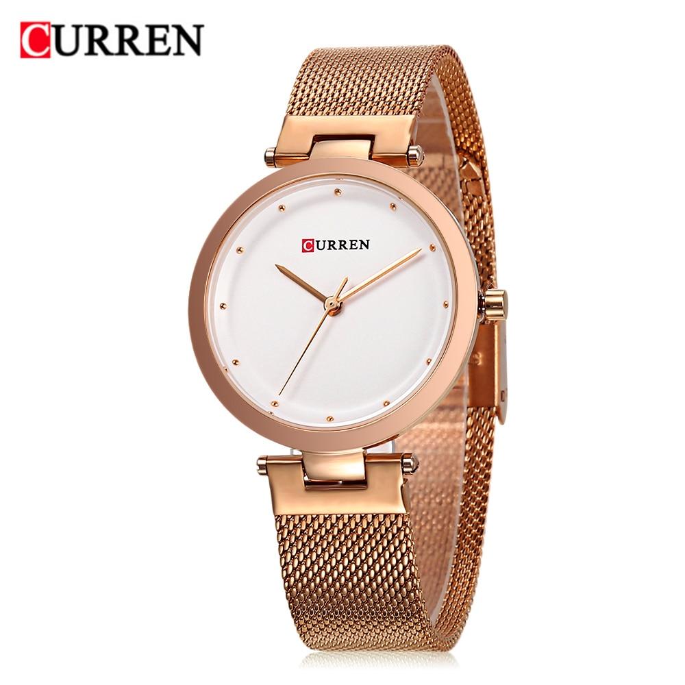 CURREN 9005 Luxury Women Watch Famous Brands Gold Fashion Design Bracelet Watches Ladies Women Wrist Watches Relogio Femininos wholesale drop shipping (10)