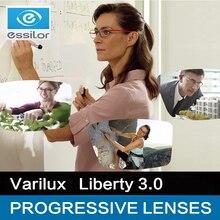 Essilor varilux progressivo lentes 1.50 1.56 1.59 (adicionar 0.75 ~ 3.50) liberty 3.0 prescrição óculos lentes multifocais