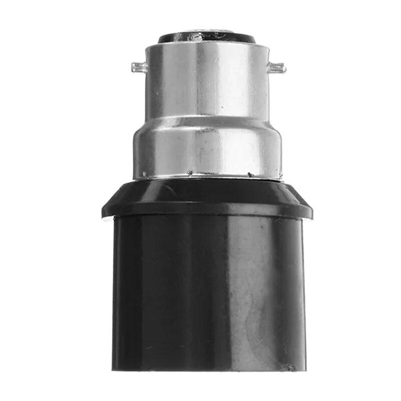 B22 To E27 Black Base LED Light Lamp Bulb Fireproof Holder Adapter Converter Socket Change Base Holder Adapter