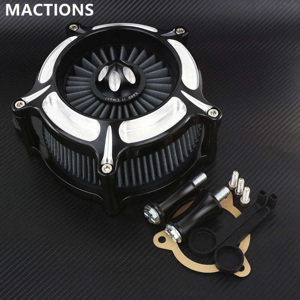 Серый воздушный фильтр мотоцикла CNC ремесла воздухоочиститель Впускной фильтр для Harley Touring Street Glide 08 16 Softail 16 17 Dyna 2017