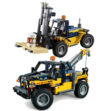 Hot New 2 in 1 Technic Series Forklift Truck Compatible Legoing Technic Car Set Building Blocks Bricks Toys Christmas Gifts цена