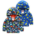 Children's Jackets boys cartoon jacket 2016 new children's clothing spring autumn clothes 2-6T baby hoodie full hooded jackets