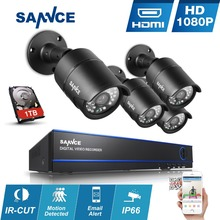 SANNCE 8CH HD 1080P CCTV System 2.0MP Safety Cameras 1920*1080P CCTV Out of doors waterproof Video Surveillance package 1TB HDD