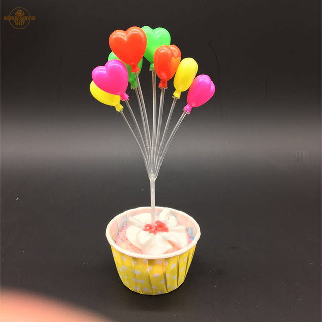 Balloon Series Birthday Theme Cupcake Pick Kids Happy Birthday Cupcake Toppers For Party Wedding Decoration Cake Topper Supplies
