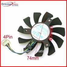 Бесплатная доставка ga81o2u 12 В 0.38a 4PIN VGA вентилятор для Dataland RX560 x последовательной R9 370x Графика кулер карты вентилятор охлаждения