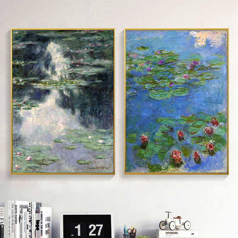 Print Claude Monet Impressionism 16 Flowers On Banks Of Sei