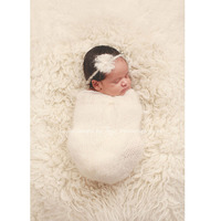 Новорожденный фотографии мохер оголовье + спальный мешок кокон фотография реквизит новорожденный пеленание опора fotografie аксессуары