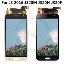 Can Adjust Brightness  j3 LCD For Samsung J3 2016 J320 J320A J320F J320P J320M J320Y J320FN Digitizer Touch Screen Assembly