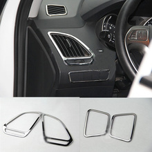 For HYUNDAI ix35 air condition outlet ABS Chrome trim auto accessories decoration 4pcs per set abs chrome trim air conditioning outlet decoration circle for ford kuga 2013 2014