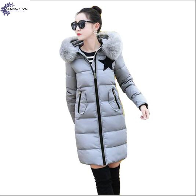TNLNZHYN NEW winter fashion Women clothing warm Cotton coat  Big yards Long sleeve hooded high-end female Cotton Outerwear QQ307