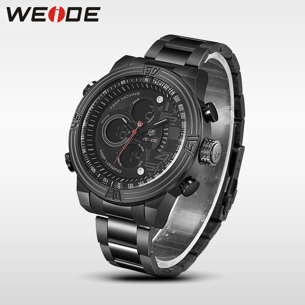 Weide luxury quartz sports wrist watch genuine business watch stainless steel silver digital LCD clock horlog relogio masculino weide casual genuine luxury brand quartz sport relogio digital masculino watch stainless steel analog men automatic alarm clock