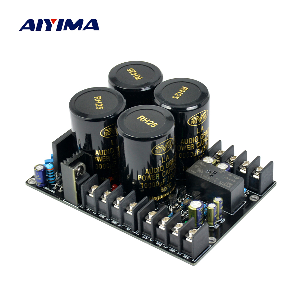 Aiyima Amplifier Rectifier Protect board Supply Power Board High Power Rectifier Filter Power Supply Board switzerland dartzeel nhb108 power amp high power rectifier filter power supply board with speaker protection