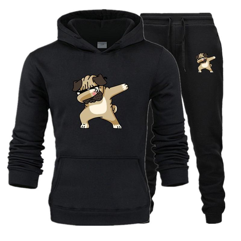 Hot 2019 Two Pieces Set Fashion Hooded Sweatshirts Sportswear Men Tracksuit Hoodie Autumn Men Brand Clothes Hoodies+Pants Sets