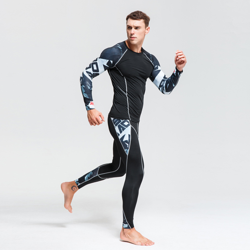 New Men's Thermal Underwear Base Layer Tracksuit Warm Men's Winter Sports Suits Compression Sportswear Thermal Underwear 4xl(China)