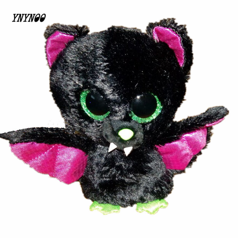 YNYNOO TY Beanie Boos Cute Slick Bat Plush Toys 6'' 15cm Ty Plush Animals Big Eyes Eyed Stuffed Animal Soft Toys for Kids Gifts ynynoo hot ty beanie boos big eyes small unicorn plush toy doll kawaii stuffed animals collection lovely children s gifts lc0067
