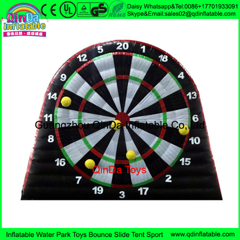 Giant inflatable soccer dart board,party kids inflatable foot darts for sale,custom risk dart board game