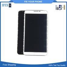 Дешевые Для samsung Galaxy Note 3 Iii N900 N9005 ЖК-дисплей Дисплей Сенсорный экран планшета AAA высокое качество с рамкой кадра и инструменты