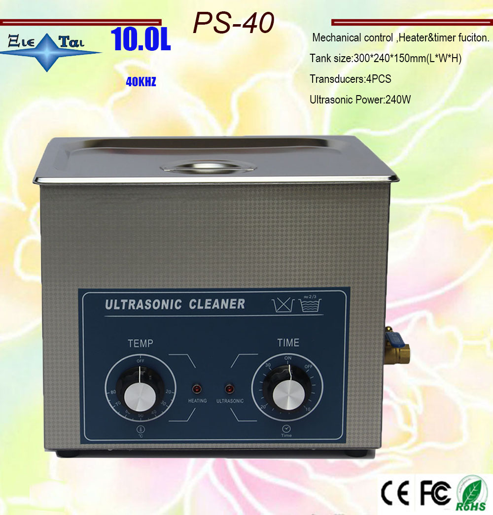 hot sale ultrasonic cleaner AC110/220V 10L 240w PS-40 AC110/220v with timer&heating for circuit board