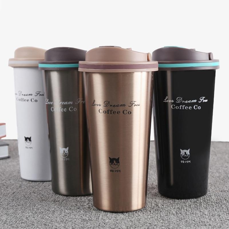 500 ml Thermos Becher Kaffee Tasse mit Deckel Thermocup Dichtung Edelstahl vakuum flaschen Thermos Thermo becher für Auto Mein wasser Flasche