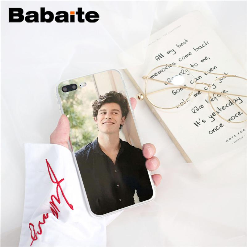 , Babaite Shawn Mendes DIY Luxury Phone Accessories Case for iPhone 8 7 6 6S Plus X XS MAX 5 5S SE XR 10 Cover