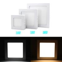 10 adet/grup 10 w/15 w/25 w kare led panel ışık yüzeye monte led downlight tavan aşağı 110-240 v lampada led lamba + led sürücü