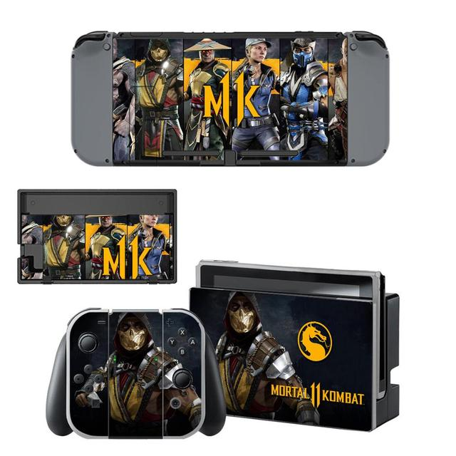 Mortal Kombat 11 Nintendoswitch Skin Stickers Switch Sticker Decal Compatible with Nintend Switch Console,Joy-Con, Controller